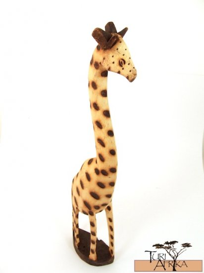 Product ID: 160     Wood and Burn Giraffe Sculpture