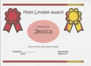 Most Lovable Certificates for Girls