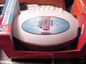 Super Bowl XLII Full Size Football Arizona 2-3-2008