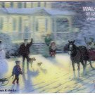 Walmart Collectible Gift Card - Lenticular - Thomas Kinkade Winter Scene VL4060