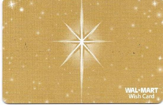 Walmart Collectible Gift Card - Sparkling Gold Star VL4058