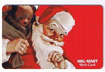 Walmart Collectible Gift Card - Santa and Bear VL4053 - USED