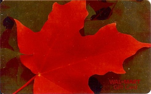 Walmart Collectible Gift Card - Autumn Leaf Gold Foil VL3972