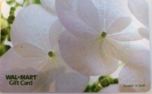 Walmart Collectible Gift Card - Scratch 'n' Sniff - White Flower VL3760 - USED