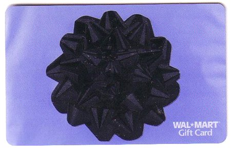 Walmart Collectible Gift Card - Silver Gift Bow VL3758