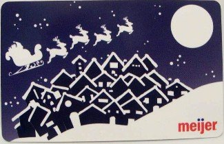 Meijer Collectible Gift Card - Twas the Night Before Christmas 10974xx - USED
