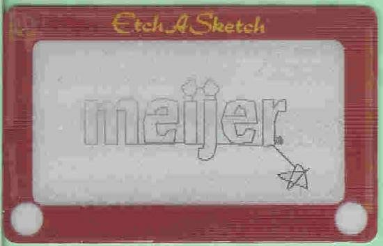 Meijer Collectible Gift Card - Lenticular - Etch-A-Sketch 10486xx