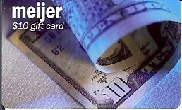 Meijer Collectible Gift Card - $10 Rolled Dollar Bill 01784xx