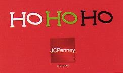 JCPenney Collectible Gift Card - HO HO HO Santa's Belt SV0701035