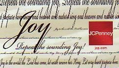 JCPenney Collectible Gift Card - Musical Card - Joy SV0701032