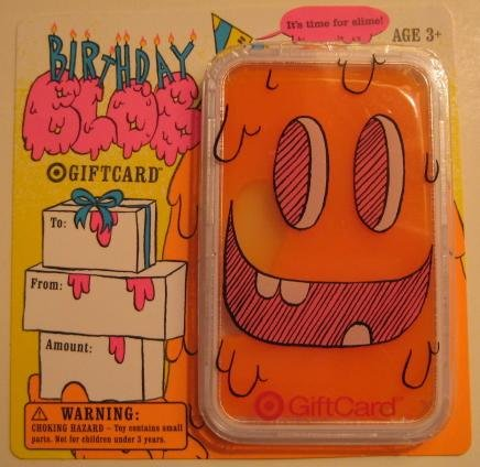 Target Collectible Gift Card - Goo/Slime - Birthday Blob 1048