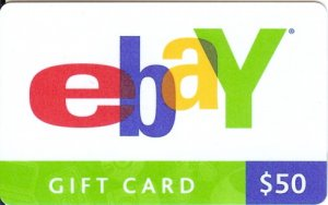 eBay Collectible Gift Card - $50 version - 07675003099 - USED