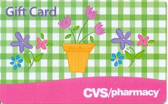 CVS Pharmacy Collectible Gift Card - Gingham Spring Flowers VL-3655
