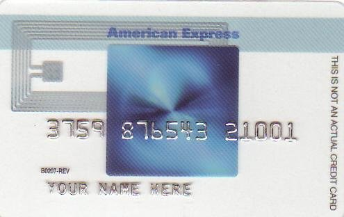 American Express Blue Cash Promotional Credit Card B0207-REV