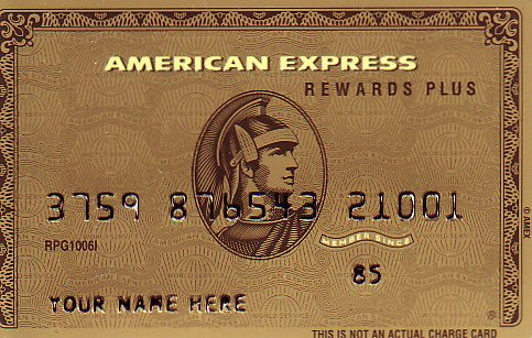 American Express Gold Promotional Credit Card RPG1006I