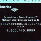 Bank of America Power Rewards Platinum Visa Business Promotional Credit Card - FC-BPR-1107