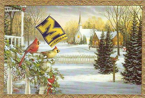 University of Michigan Christmas Card Promo Print - Holiday Memories H205