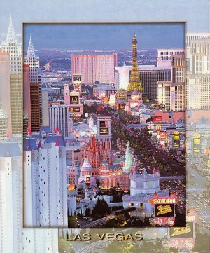 Las Vegas Postcard - The Strip LV-235