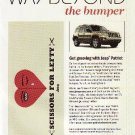 Jeep Patroit Promo - Scissors for Lefty San Francisco band - Bumper Sticker