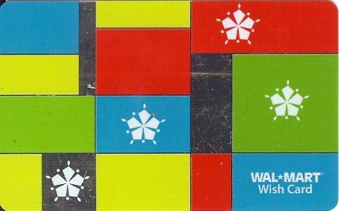 Walmart Collectible Gift Card - Colorblock Snowflakes VL4073