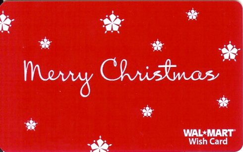 Walmart Collectible Gift Card - Merry Christmas Snowflakes VL4052