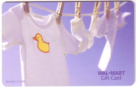 Walmart Collectible Gift Card - Scratch 'n' Sniff - Fresh Clean Laundry