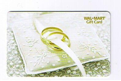 Walmart Collectible Gift Card - Wedding Rings VL2728