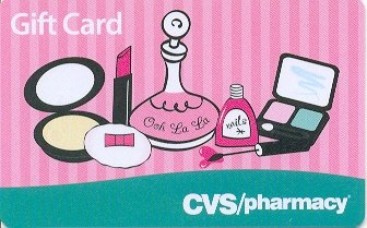 CVS Pharmacy Collectible Gift Card - Pink Cosmetics VL-3010