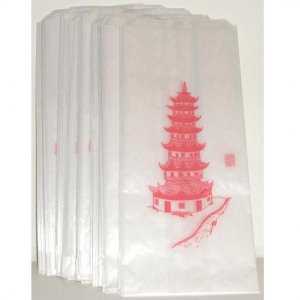 50 Japanese Pagoda Translucent Glassine Paper Bags