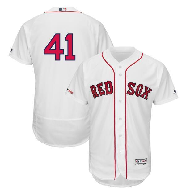 48460d2e2 Chris Sale  41 Boston Red Sox Flex Base Collection Player Men s Jersey  White Size XXXL