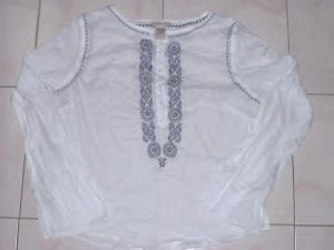 100 - Abercrombie Embroidered Sheer Tops