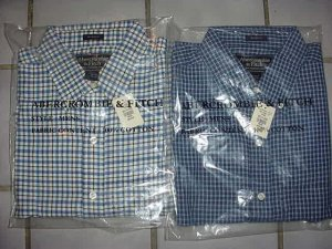 100 - Abercrombie Mens Plaid Long Sleeve Shirts