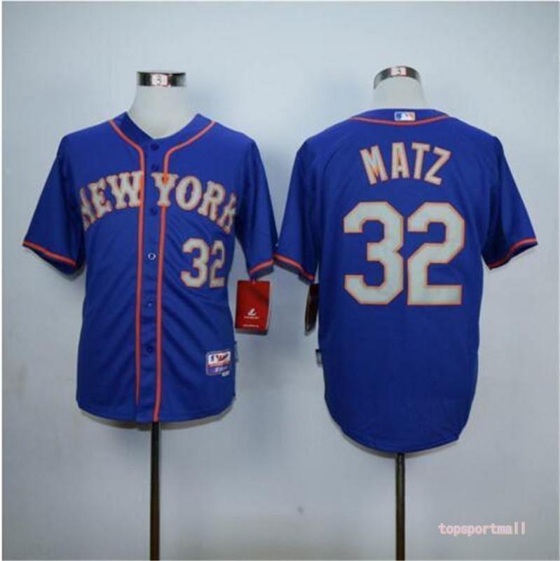 sneakers for cheap fc715 67d0f MENS New York Mets 32 Steven Matz Blue Gray Cool Base Baseball Jersey