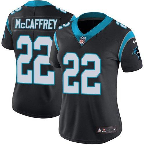 Women s Carolina Panthers  22 Christian McCaffrey Stitched Football Jersey  Black 84f1807132