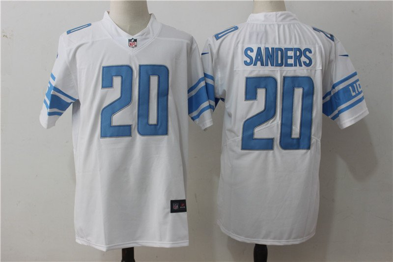 newest 80afb 436ba Men's Detroit Lions #20 Barry Sanders color rush Football jersey