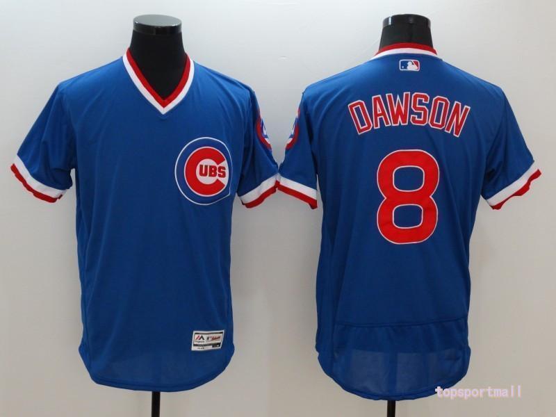 half off d2af9 f51c8 Men's Chicago Cubs 8 Andre Dawson Blue Flexbase Pullover Baseball Jersey