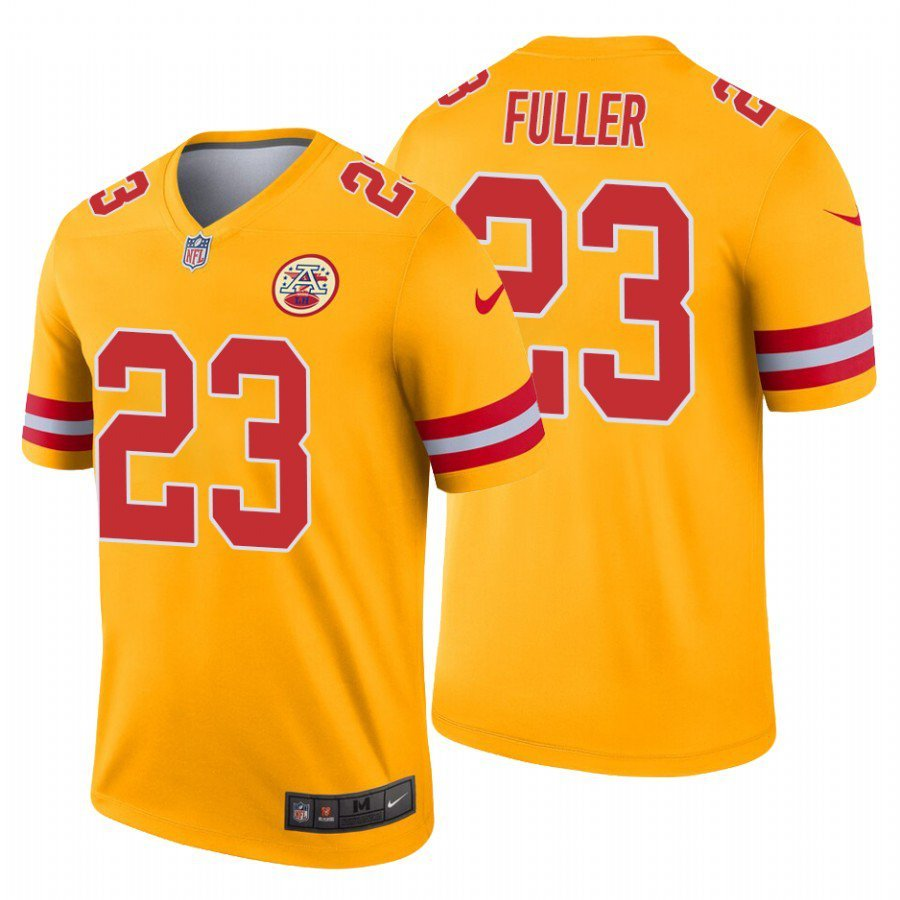 100% authentic 7c841 b133e Men's Kansas City Chiefs #23 Kendall Fuller Gold Inverted ...
