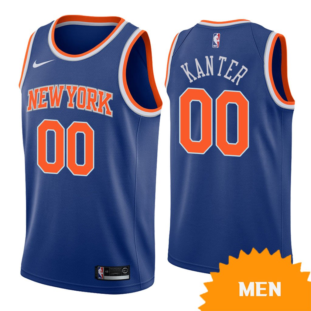cheaper aa301 c2745 Men's New York Knicks Enes Kanter Icon Edition Jersey - Blue