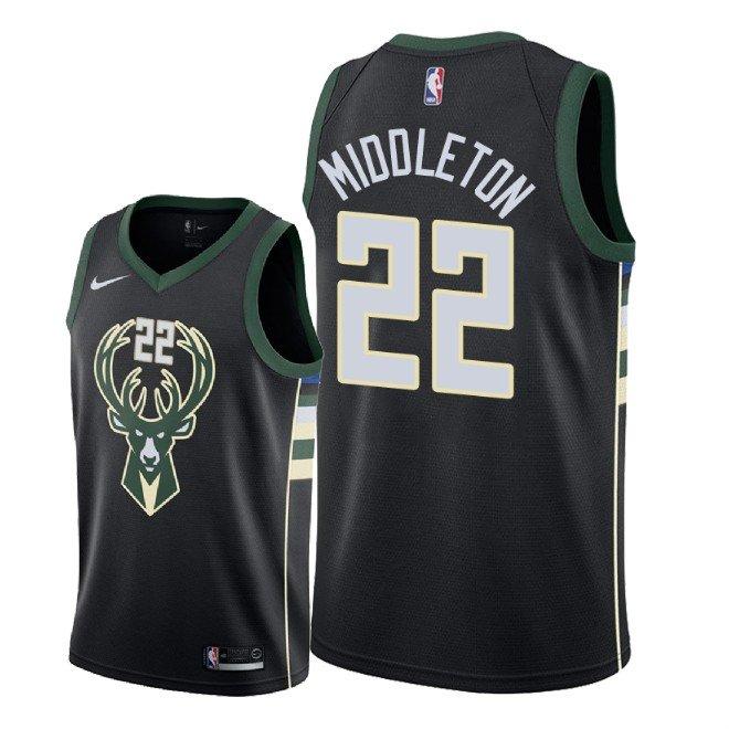 ee218eedf91 Men s Milwaukee Bucks Khris Middleton Statement Edition Jersey - Black