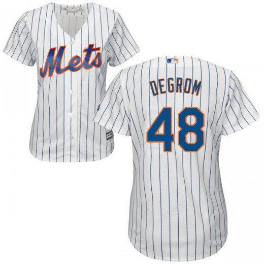 size 40 23f2d d3246 Women's New York Mets #48 Jacob deGrom White Home cool base Jersey