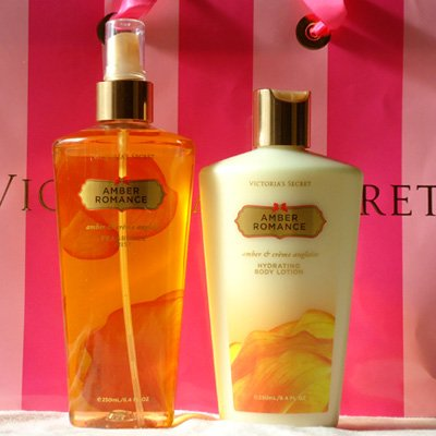 victoria secret amber romance body lotion spray. Black Bedroom Furniture Sets. Home Design Ideas