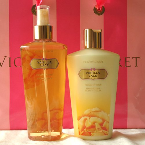 victoria secret vanilla lace body lotion spray. Black Bedroom Furniture Sets. Home Design Ideas