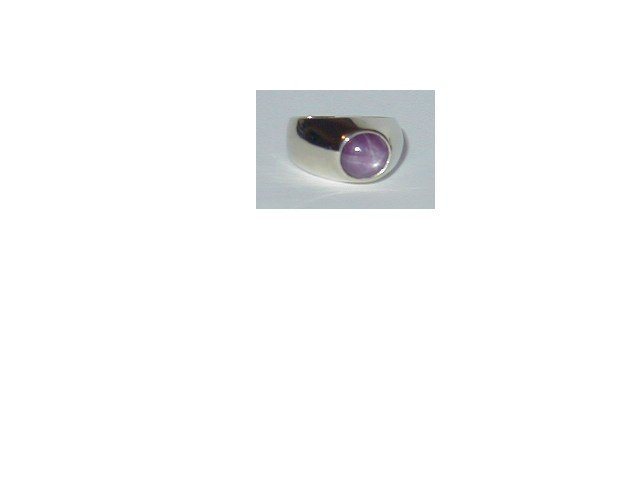 Men's Purple Star Ruby Ring