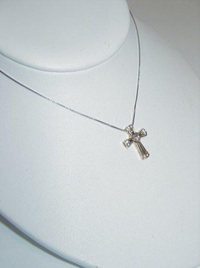 Cross Pendent with Diamonds