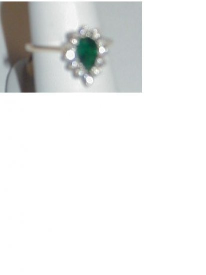 Green Tourmaline and Diamond Party Ring