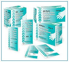 DX 2422 Medium Latex Exam Gloves Sterile (Singles)