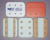 """MM1550- 18"""" Full Foam, Folding Cardboard Splint (Brown/white color)"""