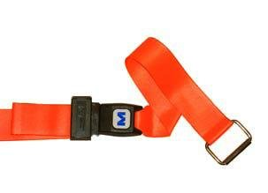 MM1300P (A) 2 Piece 5' plastic side release buckle with metal swivel speed clip ends