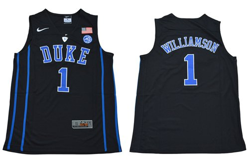 2652210729fa Men s Duke Blue Devils  1 Zion Williamson Black Basketball Elite Stitched  Jersey