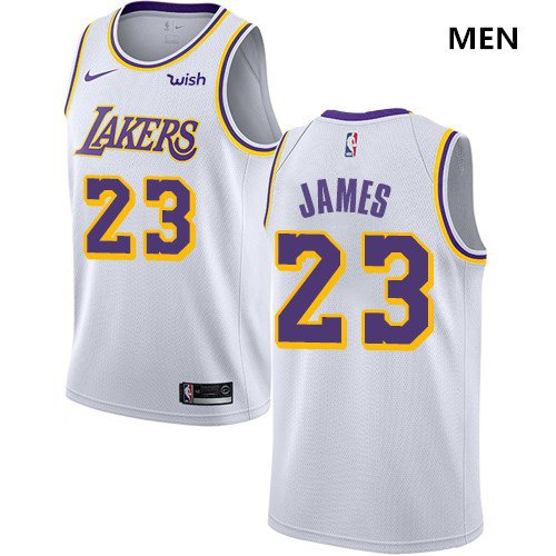 2c1712ba432e Nike Lakers  23 LeBron James White NBA Swingman Association Edition Jersey